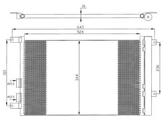 Конденсор кондиционера NRF 35330