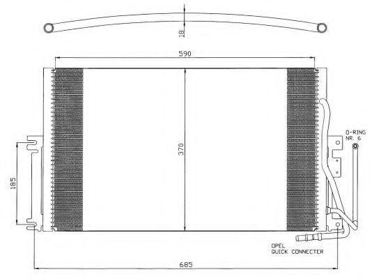Радиатор кондиционера NRF 35342