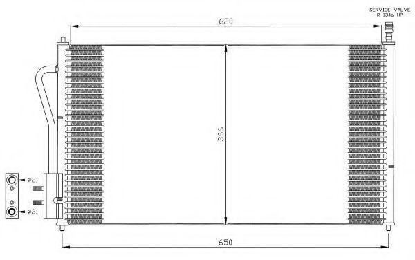 Радиатор кондиционера NRF 35345