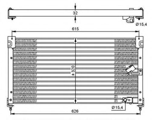 Радиатор кондиционера NRF 35348