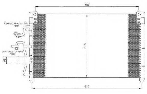 Радиатор кондиционера NRF 35355