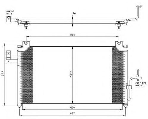 Радиатор кондиционера NRF 35356