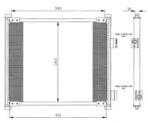 Радиатор кондиционера NRF 35357