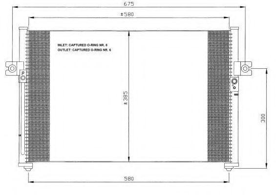 Радиатор кондиционера NRF 35389