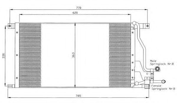 Радиатор кондиционера NRF 35400