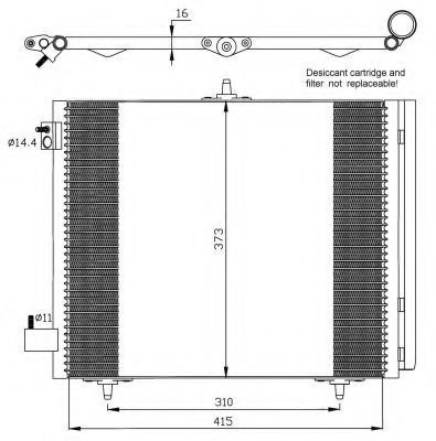 Радиатор кондиционера NRF 35405