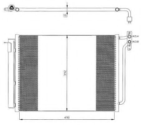 Радиатор кондиционера NRF 35406