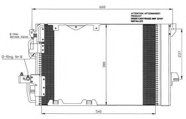 Радиатор кондиционера NRF 35416