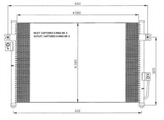 Радиатор кондиционера NRF 35426