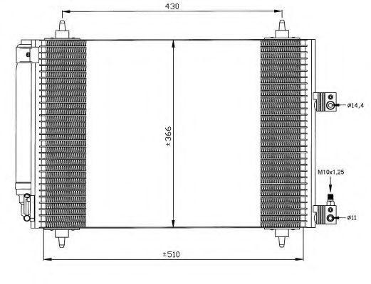 Радиатор кондиционера NRF 35443