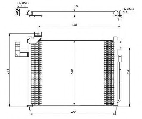 Радиатор кондиционера NRF 35460
