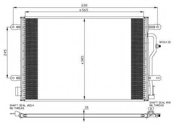 Радиатор кондиционера NRF 35465