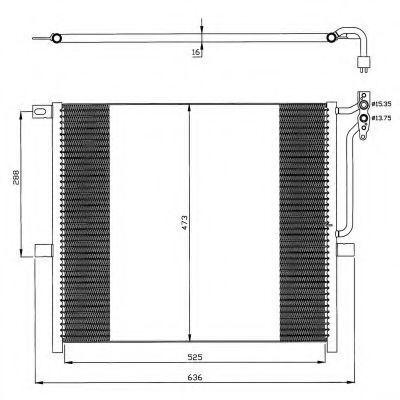Радиатор кондиционера NRF 35468
