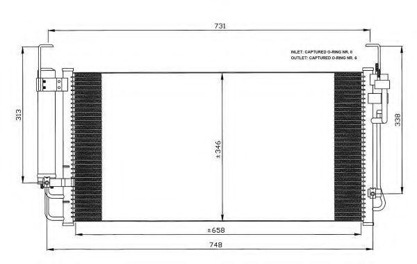 Конденсатор, кондиционер NRF 35473