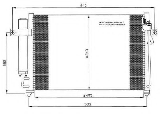 Радиатор кондиционера NRF 35475