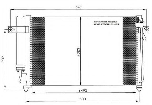 Радиатор кондиционера NRF 35476