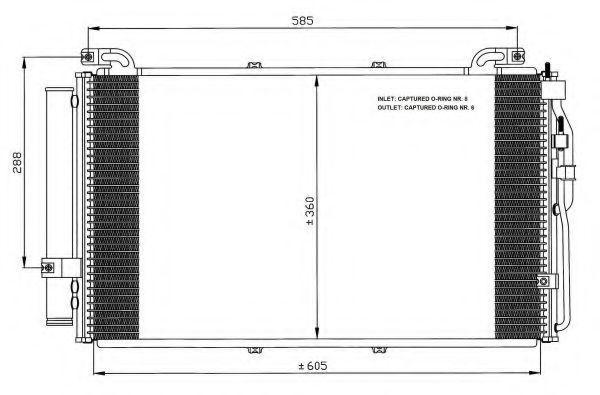 Радиатор кондиционера NRF 35477