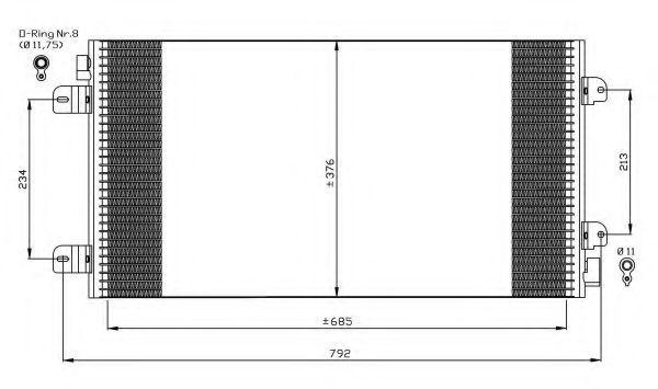 Радиатор кондиционера NRF 35485