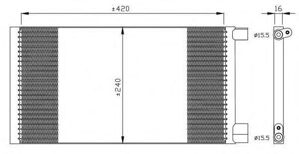 Радиатор кондиционера NRF 35487