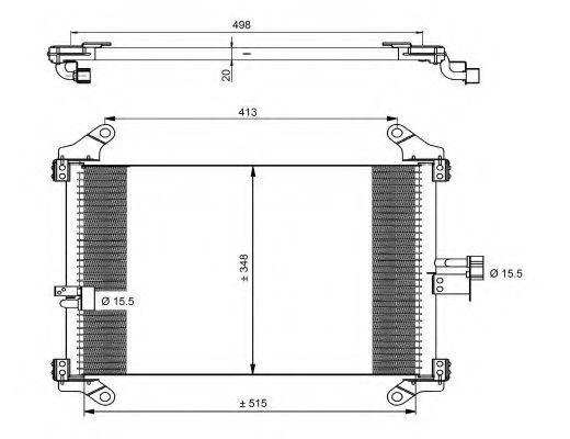 Радиатор кондиционера NRF 35494