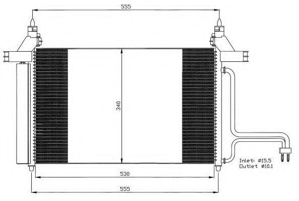 Радиатор кондиционера NRF 35495