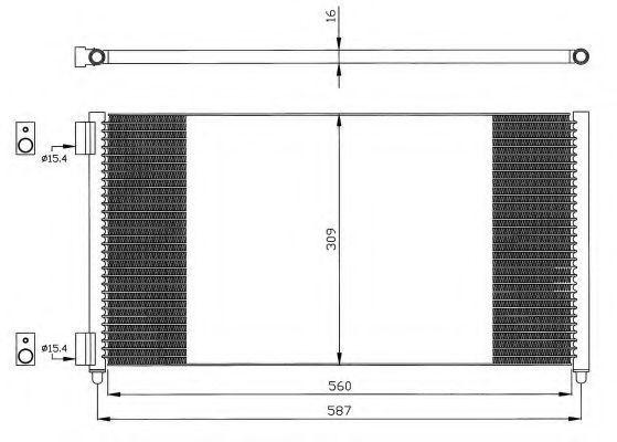 Радиатор кондиционера NRF 35496