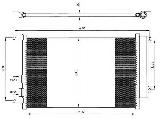 Радиатор кондиционера NRF 35499