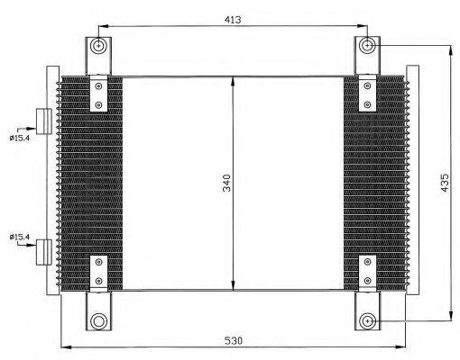 Радиатор кондиционера NRF 35501