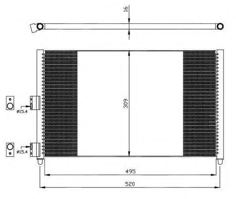 Радиатор кондиционера NRF 35502