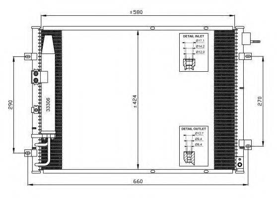 Радиатор кондиционера NRF 35515