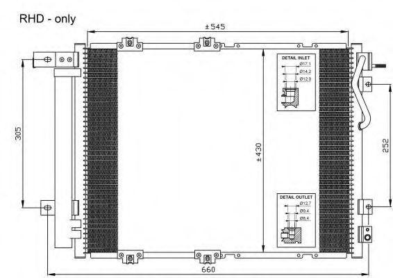 Радиатор кондиционера NRF 35519