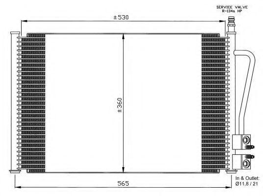 Радиатор кондиционера NRF 35524