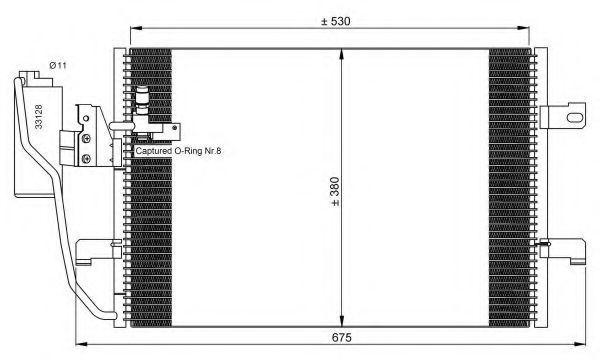 Радиатор NRF 35527
