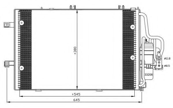 Радиатор кондиционера NRF 35530