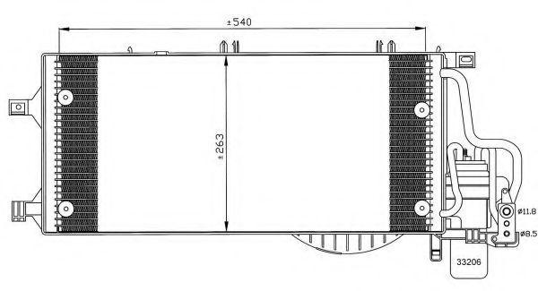 Радиатор кондиционера NRF 35531