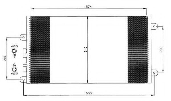 Радиатор кондиционера NRF 35532
