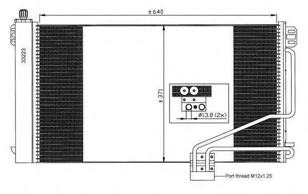 Радиатор кондиционера NRF 35535