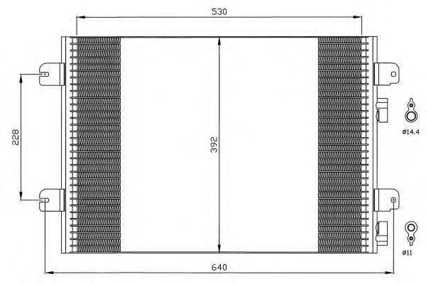 Радиатор кондиционера NRF 35542