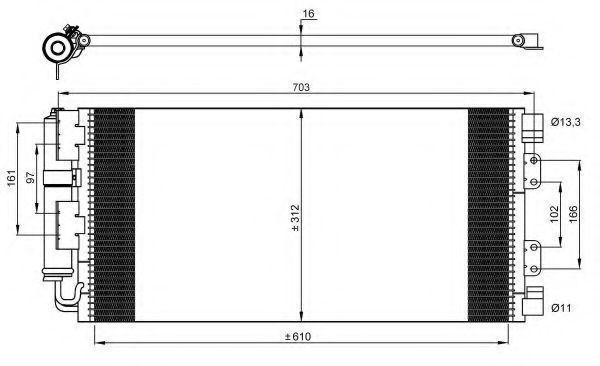 Радиатор кондиционера NRF 35548