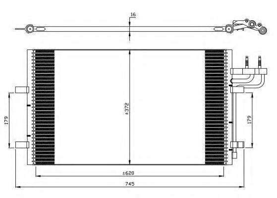 Радиатор кондиционера NRF 35551