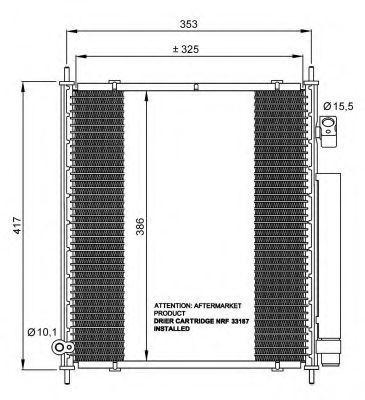 Радиатор кондиционера NRF 35562