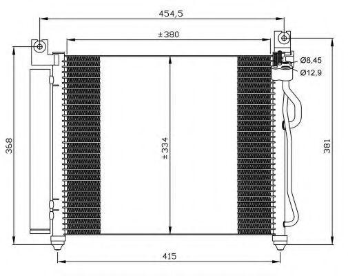 Радиатор кондиционера NRF 35569