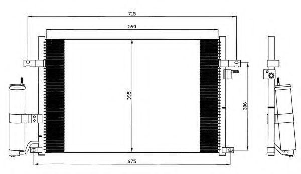 Радиатор кондиционера NRF 35573