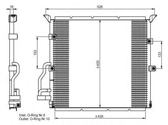 Радиатор кондиционера NRF 35586
