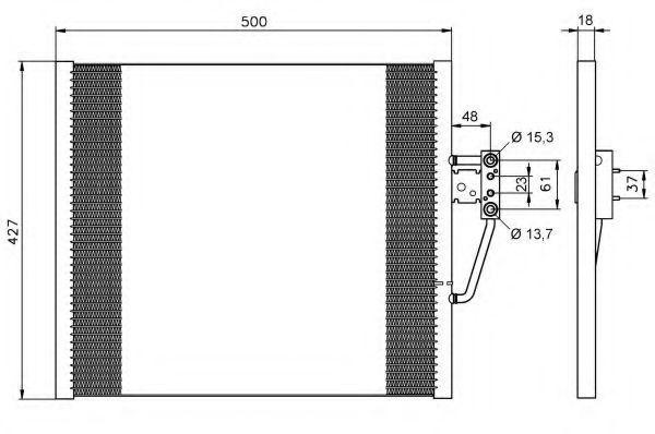 Радиатор кондиционера NRF 35587
