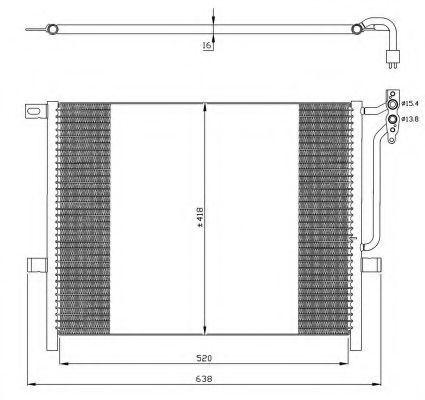 Радиатор кондиционера NRF 35589