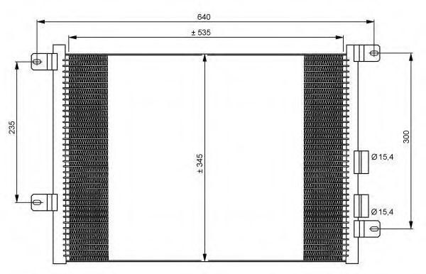 Радиатор кондиционера NRF 35590