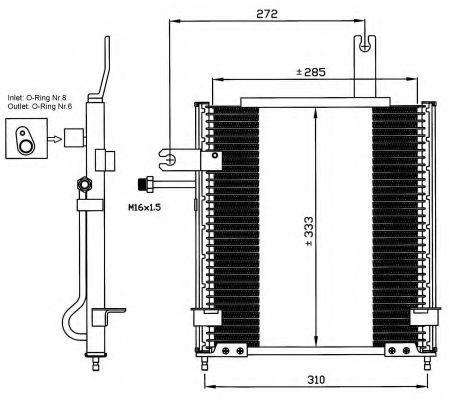 Радиатор кондиционера NRF 35597