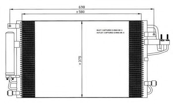 Радиатор кондиционера NRF 35600