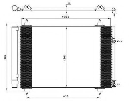 Радиатор кондиционера NRF 35610